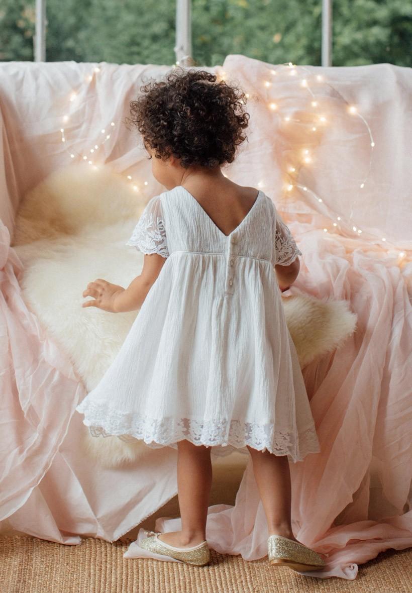 c3d2684e3fb5b Robe Bohême Ivoire Enfant pour mariages et cérémonies
