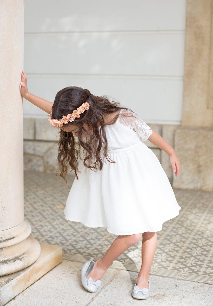 Robe demoiselle d'honneur bohème enfant pour