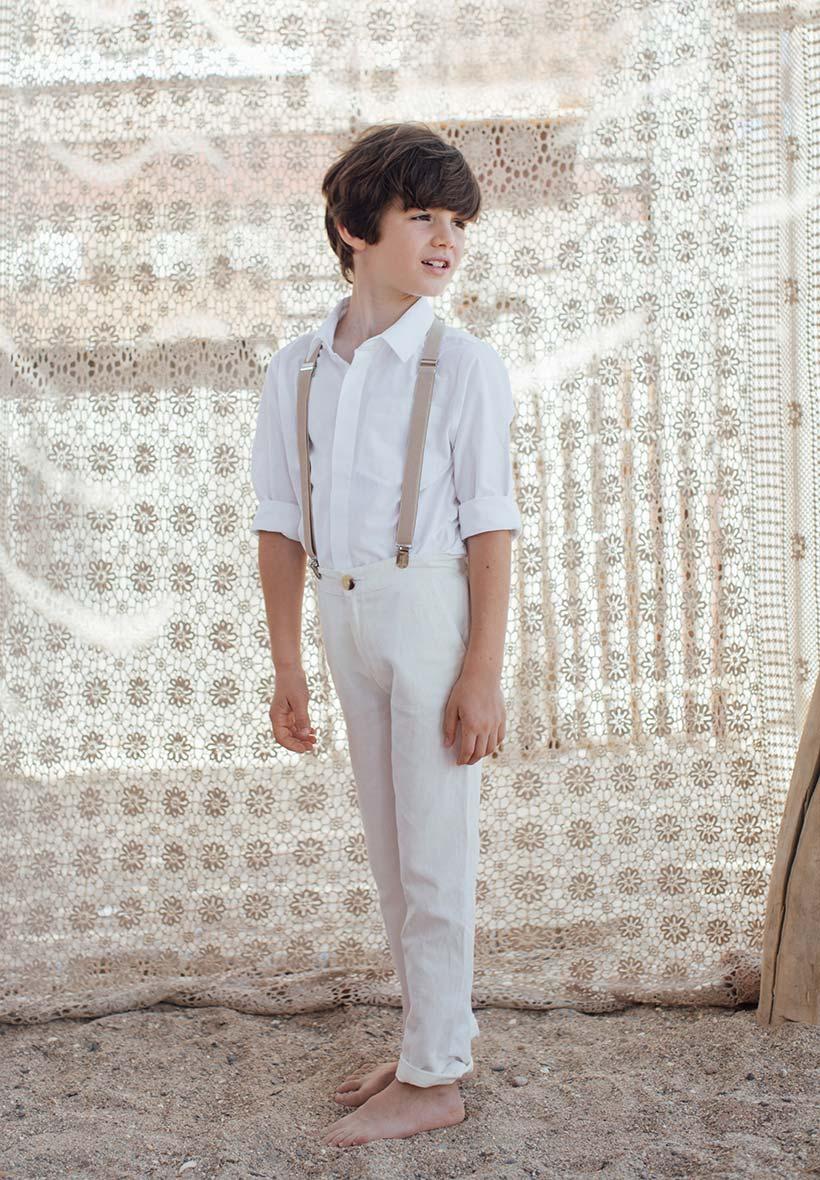 d1450b503eddb Pantalon blanc Enfant et Bébé pour Baptême et Cérémonie