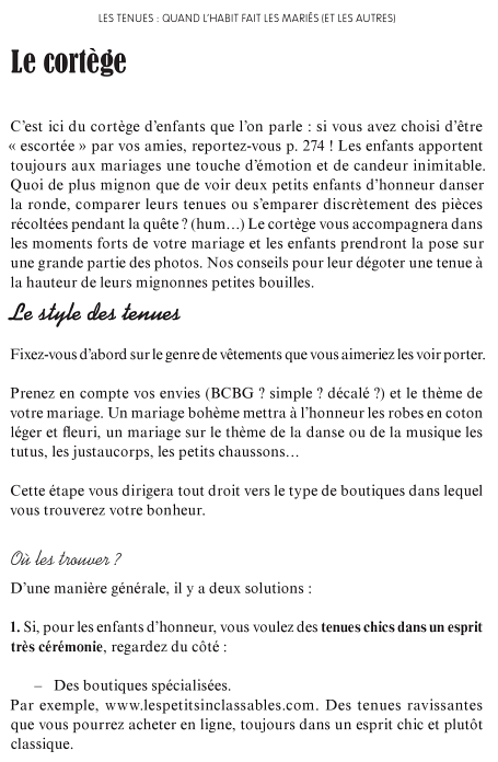 article cortège le mariage malin