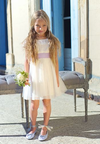 robe ninon ivoire - Robe Cortege Fille Mariage
