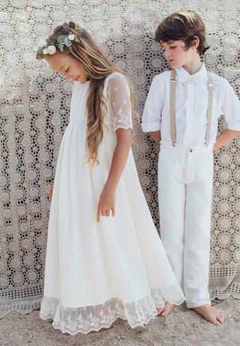 Robe Boheme Longue Fille Et Bebe De Ceremonie Et Mariage
