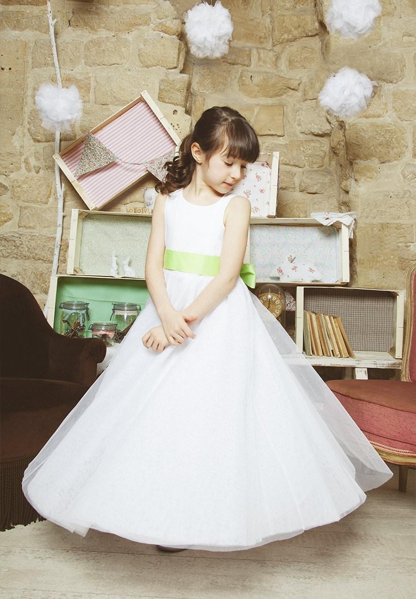 Robe en tulle fille et b b pour c r monie et mariage for Petites robes pour les mariages